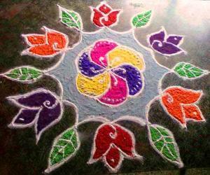Rangoli: WILD FLOWERS