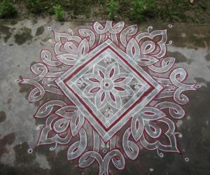Aadi 3rd Friday kolam