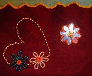 Rangoli: Hand made pouch