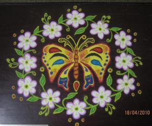 Rangoli: Jasmine