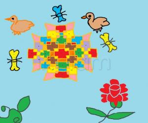 Rangoli: garden butterfly