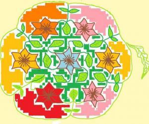 Rangoli: free hand colour kolam