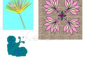 Rangoli: Flower  and Butterfly