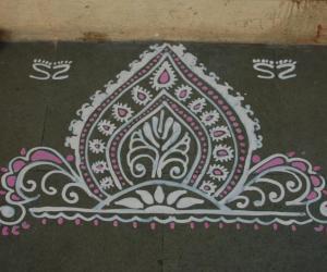 Ganesh Chaturthi rangoli