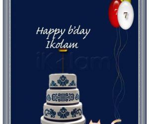 Rangoli: Happy 7th birthday Ikolam!