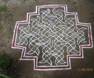 My first chikku kolam