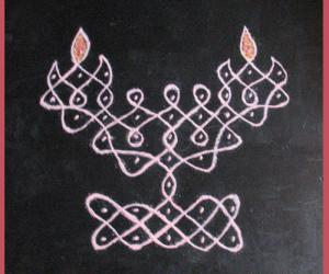 Rangoli: Lamp Rangoli
