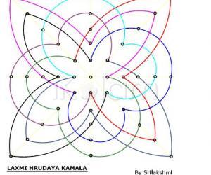 Rangoli: Laxmi Hrudaya Kamala