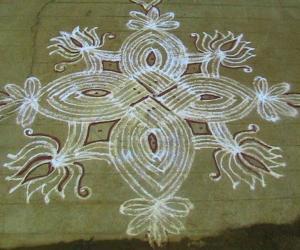 Rangoli: navrathri kolam 3