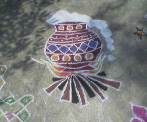 Rangoli: Pongal pot