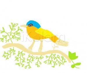 Rangoli: cute sparrow