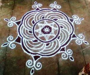 Rangoli: tuesday kolam
