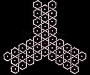 Triangular chikku kOlam - 1