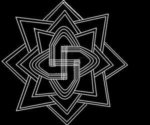 Rangoli: black and white