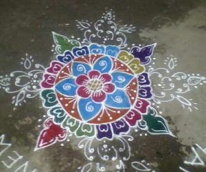 My new year rangoli