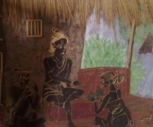 Rangoli: Craft-scene from the Ramayana
