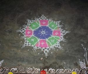 Rangoli: Varamahalakshmi Pooja