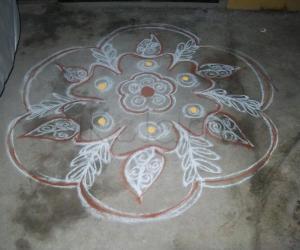 Kolam Drawn on New Year 2011