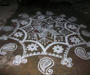 my new year kolam
