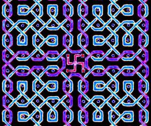 A rangOli with 10x10 dots - 4