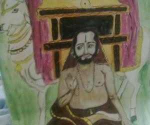 Rangoli: My young Ragavendra swami (full view)