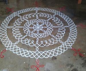 Rangoli: Roof Garden Kolam