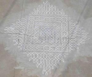 dot pattern for my chikku kolam
