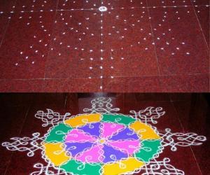 Margazhi Dew drops kolam contest