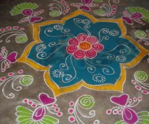 Rangoli: new year design