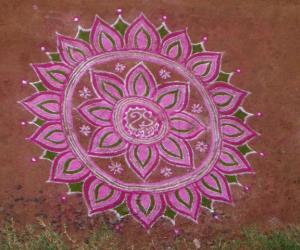 Rangoli: Navrathri colour kolams 6