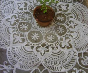 Rangoli: alpona kolam for mahanavami day