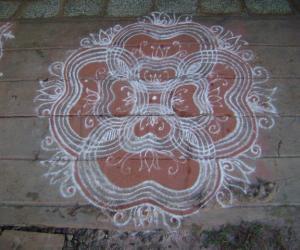 Rangoli: kolam for ekadasi day
