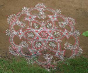 Rangoli: Special Diwali wish kolam for ikolamites -  2