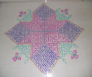 Chikku kolam for contest