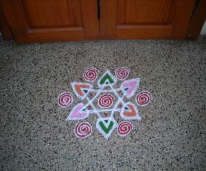 Rangoli: Free hand star kolam