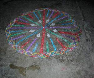 chikku/suzhi round kolam
