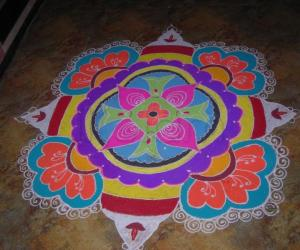 my deepawali rangoli