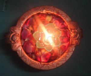 Rangoli: Floating lamp