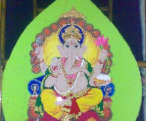 Rangoli: GANESHA ON DEEPAWALI - contest