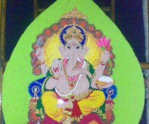 Rangoli: GANESHA ON DEEPAWALI - contest