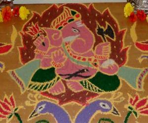 Rangoli: Ganesha Closeup
