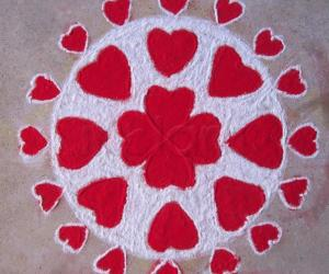 Rangoli: Little Hearts