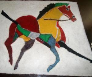 Rangoli: Bit Painting-horse