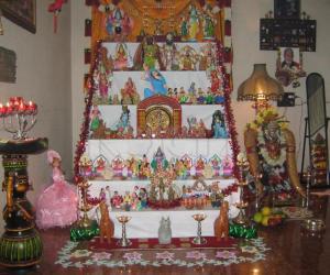 Kolu Arrangement and Kalasha Alankaram