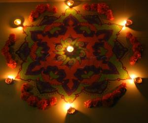 Diwali Rangoli Contest kolam