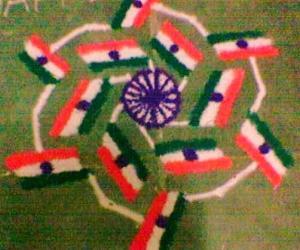 Rangoli: Flag Rangoli