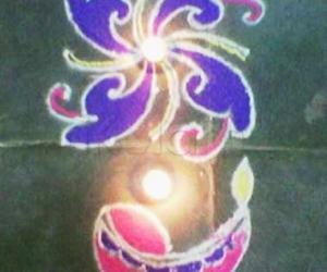 Rangoli: Rangoli put during Deepavali