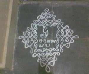 Rangoli: Kolam put on Skanda Shashti Day