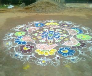 Rangoli: today's kolam
