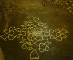 For Margazhi dew drops kolam contest 2011